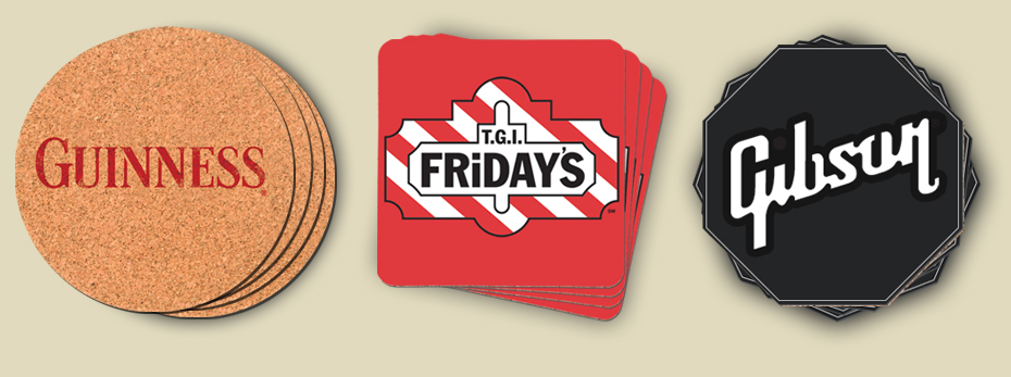 cfl custom printed coasters custom logo coasters bar coasters